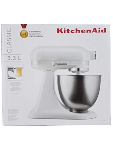 KitchenAid 5KSM3310XEWH Küchenmaschine, Edelstahl