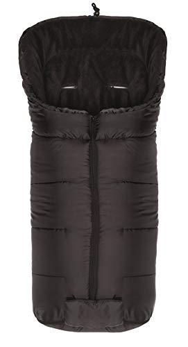 Fillikid Winterfußsack Eco Komfort/Fußsack Universal für Babyschale, Autositz/Fußsack für Kinderwagen, Buggy oder Sportwagen, Design:schwarz