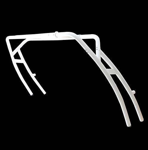 Reborn Launch Reverse Arch Universal Wakeboard Boat Tower - Forward Leaning Facing Swept - Fits Boats with Beams 78' - 106' - Easily Folds Down - Seamless 2.25inch 6063 Aircraft Aluminium (White)