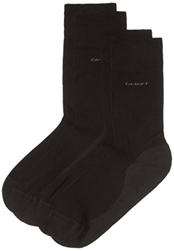 Camano Unisex - Erwachsene Socken 2-er Pack, 3652, Gr. 35-38, Schwarz (05 black)