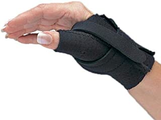 Comfort Cool Thumb CMC Restriction Splint, Provides Direct Support for The Thumb CMC Joint While Allowing Full Finger Function, Right Hand, Small Plus