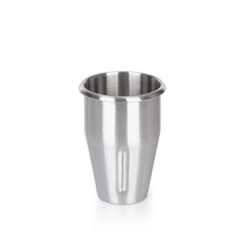Klarstein Pro Kraftprotz Edelstahlbecher, Zubehör, Ersatz, Kapazität: 0,9 Liter, Mixbecher, Edelstahl, silber