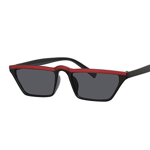 ZRTYJ Gafas de Sol Gafas de Sol cuadradas Atractivas de Las Mujeres de la Marca espejuelos de Gafas Retro Negro Rojo Gafas de Sol Mujer Tonos Gafas de Sol
