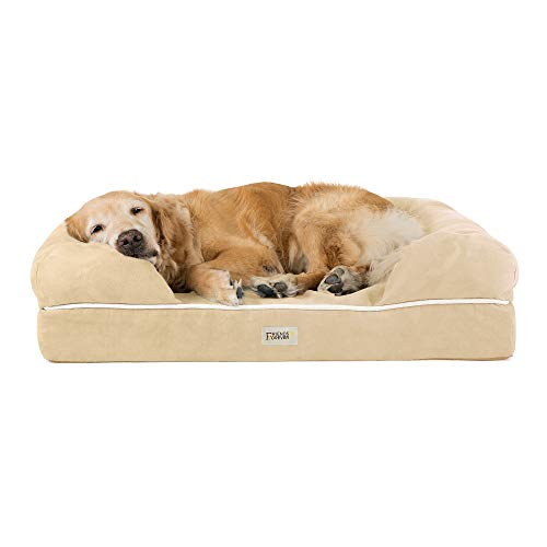 Friends Forever Orthopedic Dog Bed Lounge Sofa Removable Cover 100% Suede...