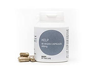 Vegan Kelp 400 mg, 90 Capsules, Body by nature supplements, We Send Fast, Because we Know You Want it Fast.