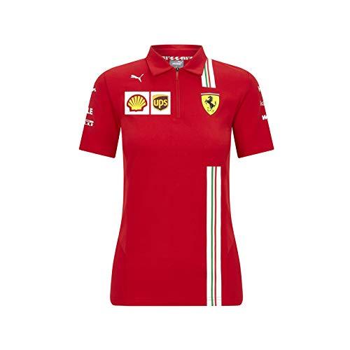 Officiële Formule 1 Merchandise - Scuderia Ferrari 2020 - Team Polo Shirt Dames - Team en sponsorlogo's - Rood - Katoen - Maat: XXS