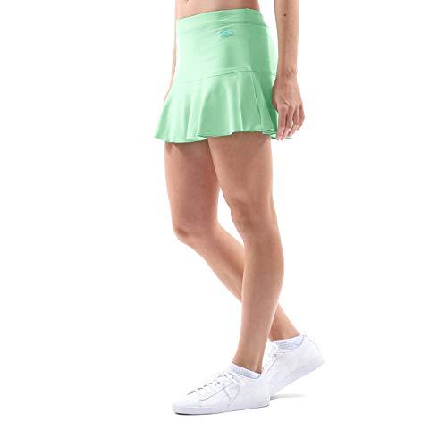 Sportkind Mädchen & Damen glockiger Tennis, Hockey, Sport Skort, Rock mit Innenhose, atmungsaktiv, UV-Schutz, lindgrün, Gr. 122