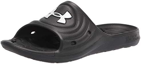 Under Armour unisex baby Locker Iv Slide Sandal Black 001 Black 6 Big Kid US product image