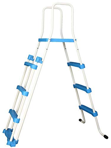 well2wellness® Poolleiter Pool Sicherheitsleiter - 3-stufig mit Plattform 175/122 cm (024291)
