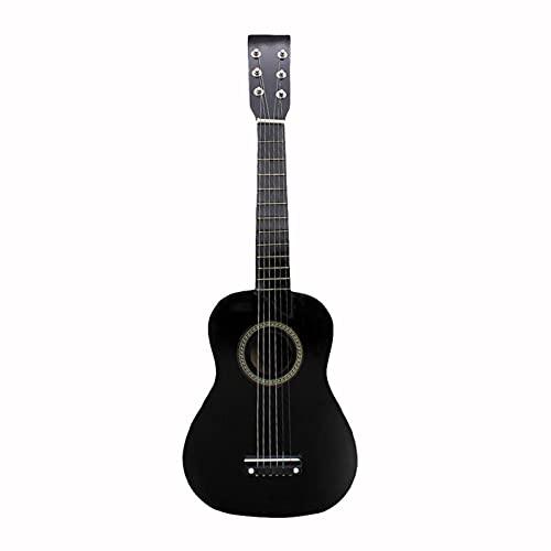 YSTSPYH Ukelele 21 Pulgadas Ukulele Soprano Principiante Ukulele Guitarra Ukulele Cuello de Caoba Tuning Delicado Peg 4 Cuerdas Madera Ukulele (Color : Black, Size : 21 Inches)