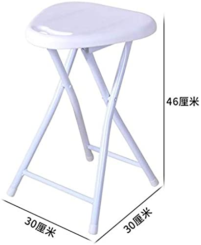 WFHGFDF Chaise Pliante Fauteuil Pliant Stool portable Home de plein air Fishing Leisure Bathroom petit Thick Plastic Folding Chair pale
