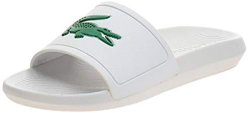 Lacoste Damen Croco Slide 119 3 CFA Badeschuhe, Blanc (White/Green), 38 EU