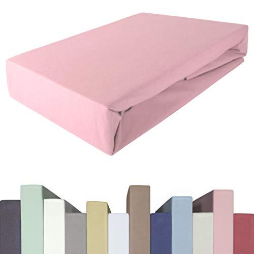 Edda Lux Spannbettlaken für BOXSPRINGBETT & bis zu 40 cm hohe Matratzen   Premium-Qualität   Baumwolle m. 5{bc43b4d267fc52ef6fc4409de914fe13cd4e37fd209cfbaac1ddc1aec1a4e913} Elasthan   schwere 190 g/m²   180 x 200   200 x 200   200 x 220 cm   Jersey-Spannbetttuch
