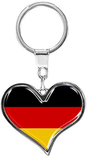 metALUm | Schlüsselanhänger Herz Metall Flagge Deutschland 6611009