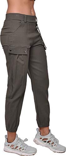 Damskie spodnie bojówki Casual Outdoor Pants, Zielony S11011 M-L