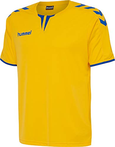 Hummel Herren Trikot Core SS Poly Jersey 003636 Sports Yellow/True Blue2 XL