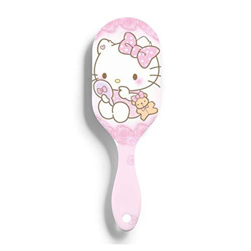 Hello Kitty - Cepillo de pelo para el cabello con punta de bola estática para el cuero cabelludo sensible y el cabello dañado seco