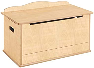 Guidecraft Expressions Toy Box -Trunk & Chest Kids Storage Furniture, Natural