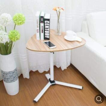 RTYU Las mesas de café 59 * 48cm en Forma de corazón de usos múltiples Mesas de café de té de Mesa Lateral Escritorio del Ordenador portátil Mesa Auxiliar Plegable (Color : Color)
