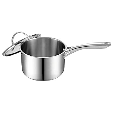 Cooks Standard 3 Quart Stainless Steel Saucepan with Lid