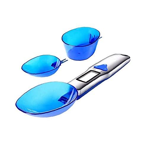 Cuchara Báscula Electrónica 0.1g Cuchara Escala 3 Tamaño Alimentos Agua Azul Cuchara con Pantalla Digital Gran Elección para Usted YXF99