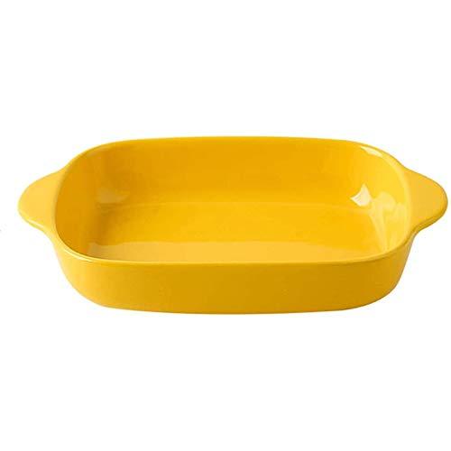 YYCHJU Baking Dish for Cooking, Kitchen, Cake Dinner Glaze Bakeware Ceramic Baking Dish Rectangular Baking Pans for Cooking Cake Dinner Kitchen (Color : A)