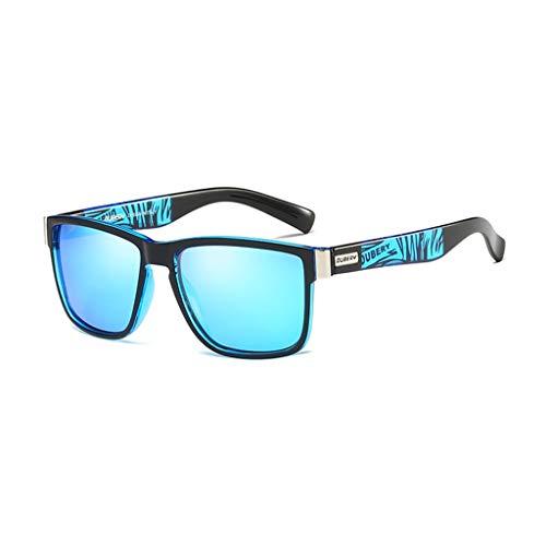 DUBERY Gafas de Sol polarizadas Deportivas for Hombre/Mujer 100% UV400 Protección HD Gafas de equitación A Prueba de Viento/Multicolor D518 (Color : #6)