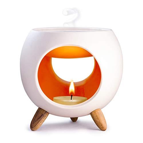 Kaloogo Sabai Scent Keramik Duftlampe rund (Duftlicht) - orange