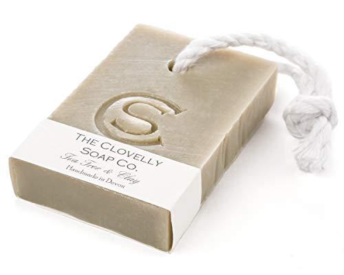 Clovelly Soap Co Natürliche handgemachte Kordel-Seife für alle Hauttypen Teebaum & Tonerde 100g