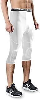 Trihedral-X, Seguridad Anti-colisión de Baloncesto de los Hombres Pantalones Cortos de Entrenamiento físico 3/4 Leggings con Knee Pads Deportes 3XL Pantalones de Compresión
