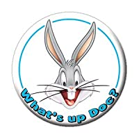 """LOONEY TUNES WHAT'S UP DOC? BUTTON - American Animated Comedy Short Film Looney Tunes Premium Artwork Button - 1.25"""""""