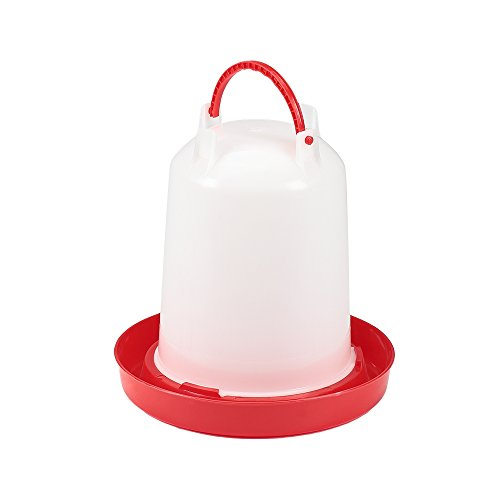 Melko Geflügeltränke 3 Liter Stülptränke Wasserspender Hühner Getränkeautomat Futterautomat Wachteln