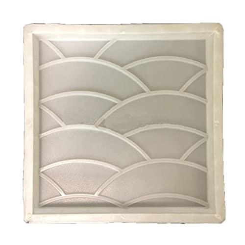 WGGTX 40x40x5mm Ola de Cemento Ondulado Ondulado Bricolaje hormigón Antideslizante Antideslizante 3D pavimento Molde de plástico Molde de Piedra Antiguo Molde