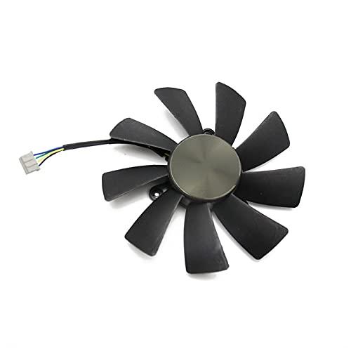 87mm GA92S2H 100mm GAA8S2H GAA8S2U 4Pin Fan del Enfriador para Zotac GTX 1060 1070 TI Mini HA 1080 TI Tarjeta gráfica Dual Fan de enfriamiento (Blade Color : White)