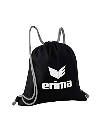 Erima Pro Turnbeutel, schwarz/grau, Einheitsgröße