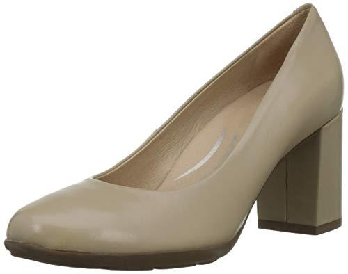 Geox D New ANNYA A, Zapatos de Tacón Mujer, Beige (Beige C5000), 38 EU