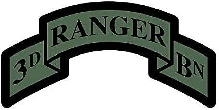 fagraphix Subdued 3rd Ranger BN Sticker Decal Self Adhesive Battalion Sleeve Insignia 75th Ranger Regiment 3D 5.00