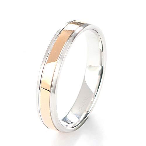 TIANRAO 2 mm witgoud & roodgouden ring geborsteld heren trouwring comfort fit, bruiloft verlovingssieraden