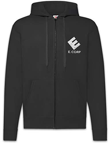 Urban Backwoods E Corp Sudadera con Capucha Y Cremallera para Hombre Zipper Hoodie