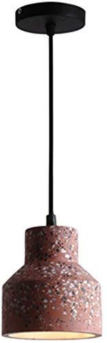 DJ Home Jahrgang industrielle Zement Pendelleuchten, E27 Bunte Mini-Beton-hängende Beleuchtung for Restaurant Theke Dekoration hängende Lampen-Größe 13x14cm (Color : Red, Größe : 13x14cm)