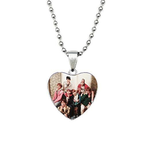 AMA-StarUK36 Pulsera Colgante Collar de Amor Foto Tiempo Gema Joyas Cadena de Acero Inoxidable Regalo Caliente para A.R.M.Y(H05)