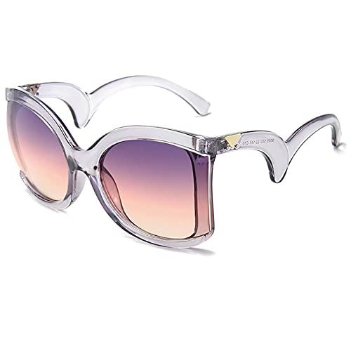 AMFG Gafas de sol, gafas de sol, espejo onduladas, gafas de sol, hombres y mujeres, fiesta de negocios al aire libre UV400 Gafas de protección (Color : F, Size : M)