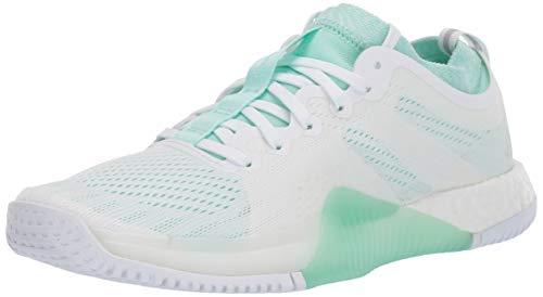 adidas Women's Crazytrain Elite Cross Trainer, White/Clear Mint/White, 5 M US