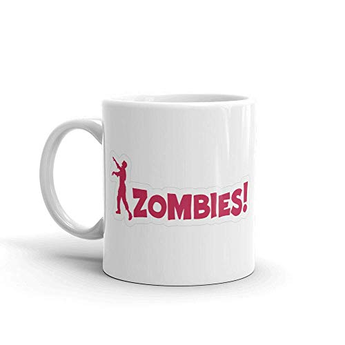 N\A Señal de Advertencia del Zombi Taza de café portátil de la Oficina Taza de té de cerámica