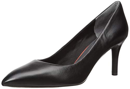 Rockport Women's Total Motion 75mm Pointy Pump, 8 W, Black Leather