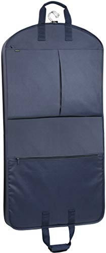WallyBags Extra Capacity Travel Garment Bag with Pockets, Navy, 45-inch