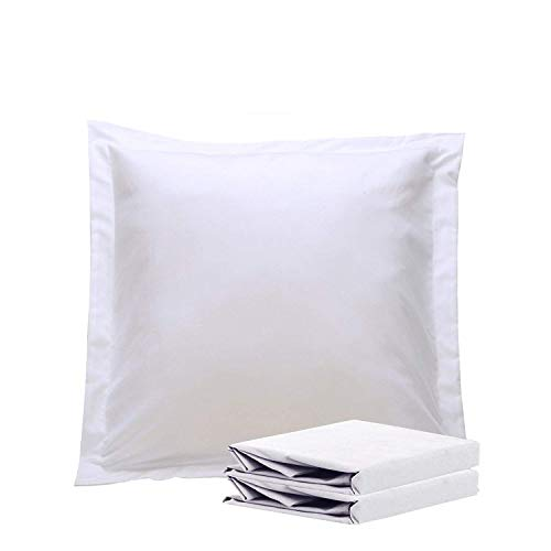 Cheapest Prices! NTBAY 100% Brushed Microfiber European Square Throw Pillow Cushion Cover Set of 2, Soft and Cozy, Wrinkle, Fade, Stain Resistant (26x 26 inches, White)