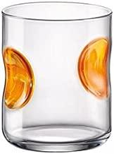 Lote de 3 Vasos altos Giove, 31 cl, color naranja