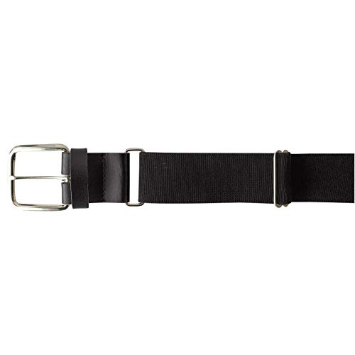 Champro Elastic Baseball Belt with 1.5-Inch Synthetic Leather Tab (Black, 24-48-Inch)