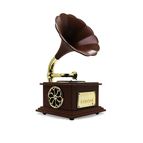 Mini Retro clásico del gramófono del fonógrafo Forma de Altavoces ...